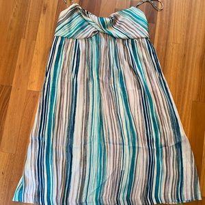 Ann Taylor Loft spaghetti strap sliky dress